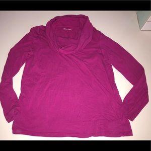 Gap nursing double layer cowl top shirt blouse xl